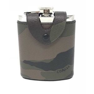 Coach Beverage Flask With Camo Green Multi Cover